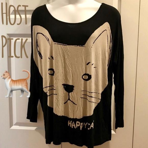 fee4b3178 Allegra K Tops - ⛔️FINAL Allegra K Happy Cat Tee